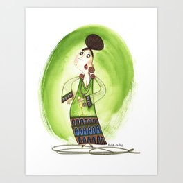 Cocktail Lady 3 Art Print