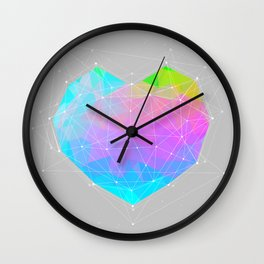 The Dots Will Somehow Connect (Geometric Heart) Wall Clock