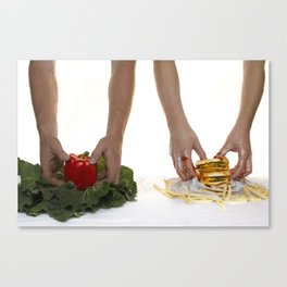 You are what you eat. Canvas Print