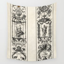 Mois grotesques par bandes Wall Tapestry