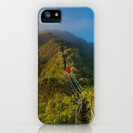 Haiku Stairs, Kaneohe, United States iPhone Case