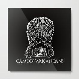 Game Of Wakandans Metal Print