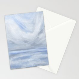 Unclear - Moody Gray Ocean Seascape Stationery Cards