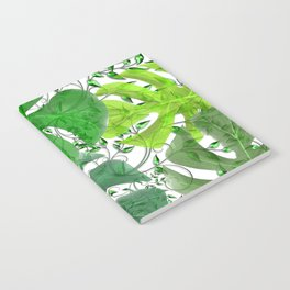 PALM LEAF B0UNTY GREEN AND WHITE Notebook