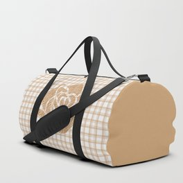 Patchwork , rose , brown Duffle Bag