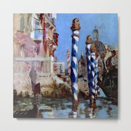 """Édouard Manet """"The Grand Canal in Venice"""" 1874 Metal Print"""