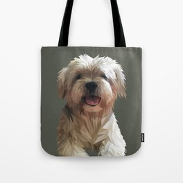 Shih tzu Low Poly Tote Bag
