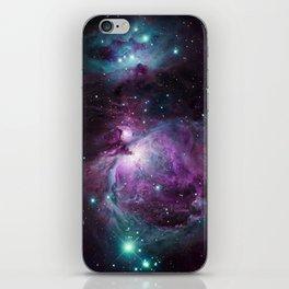 Orion Nebula Purple teal full iPhone Skin
