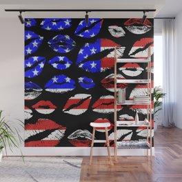 Kiss The Flag Wall Mural