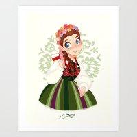 poland Art Prints featuring Poland by Melissa Ballesteros Parada