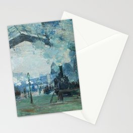Arrival of the Normandy Train Gare Saint-Lazare Stationery Cards