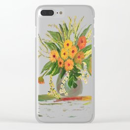 Emma's Flowers Clear iPhone Case