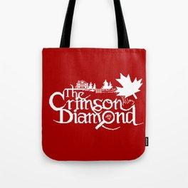 The Crimson Diamond monochromatic logo Tote Bag