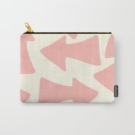 Peach Arrows on Pale Yellow Carry-All Pouch