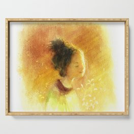 Girl with the Sunshine Serving Tray