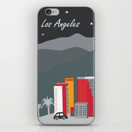 Los Angeles, California - Skyline Illustration by Loose Petals iPhone Skin