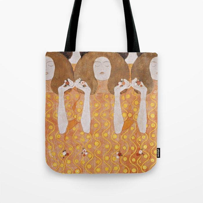 Beethoven Frieze by Gustav Klimt Tote Bag