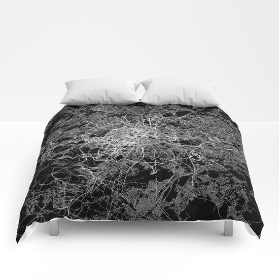 Paris map #2 Comforters