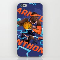 nba iPhone & iPod Skins featuring NBA Stars: Carmelo Anthony by Akyanyme