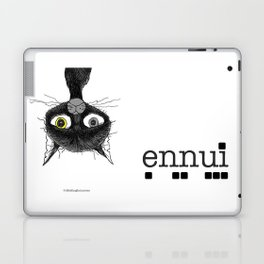 Ennui is one complicated emotion of a cat! Laptop & iPad Skin