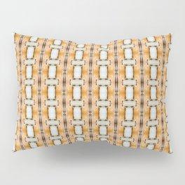 Geometric oblongs on orange Pillow Sham