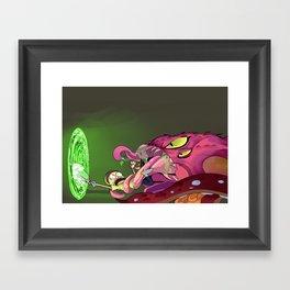 AW GEEZ RICK Framed Art Print
