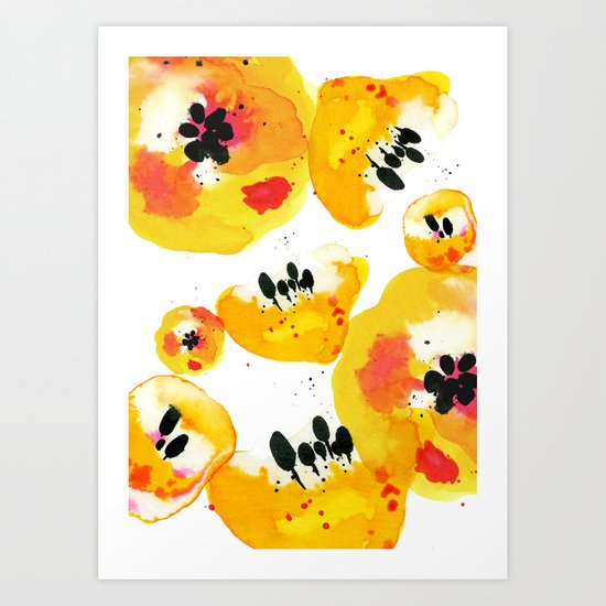 Water Flowers Art Print