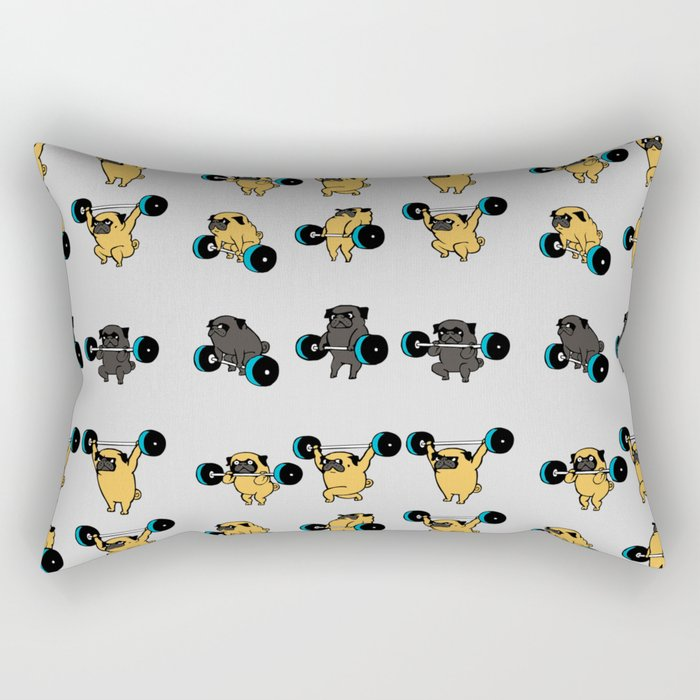 OLYMPIC LIFTING PUGS Rectangular Pillow