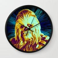 chewbacca Wall Clocks featuring Chewbacca by victorygarlic - Niki