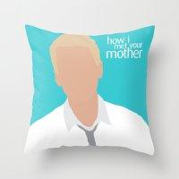 himym Throw Pillows featuring Barney Stinson HIMYM by Rosaura Grant