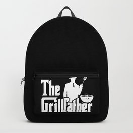 The Grillfather Funny BBQ Grilling graphic for Grill Master Backpack
