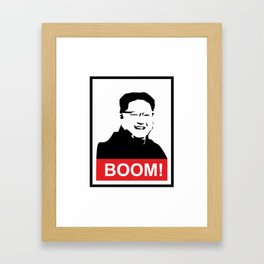 Kim Jong Un BOOM #society6 #decor #buyart #artprint Framed Art Print