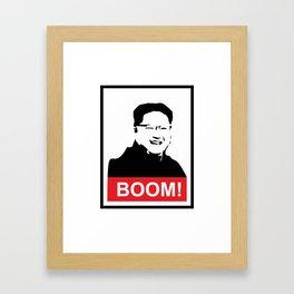 Kim Jong Un BOOM #society6 #decor #buyart #artprint Framed Art Print