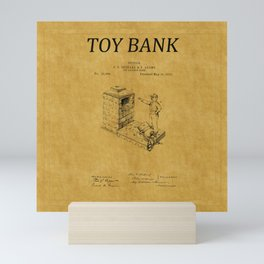 Toy Bank Patent 1 Mini Art Print