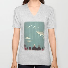 Day Trippers #9 - Aquarium Unisex V-Neck