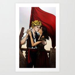 Enjolras x Eponine - Meet me at the barricades Art Print