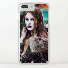 Paranoia Clear iPhone Case