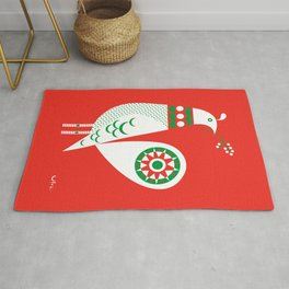 Holiday Partridge Rug