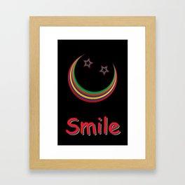 Smile and light up the night sky Framed Art Print