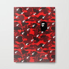 Bape Red logo Metal Print