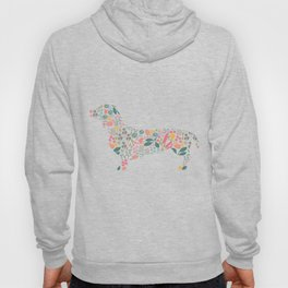 Dachshund Floral Watercolor Art Hoody