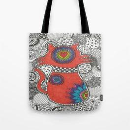 Kitty-tangle Tote Bag