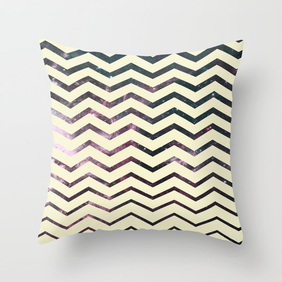 Cosmic Zag Throw Pillow