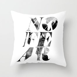 No Fear Throw Pillow