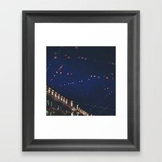 christmas lights ...  Framed Art Print