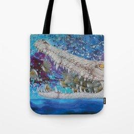 Albino Crocodile Tote Bag