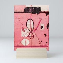 N24 - Black and Pink Boho Traditional Moroccan Vintage Artwork  Mini Art Print