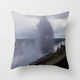A Gale to Blow Out the Year #3 (Chicago Waves Collection) Throw Pillow