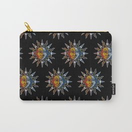 Celestial Mosaic Sun and Moon Carry-All Pouch
