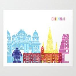 Chennai skyline pop Art Print